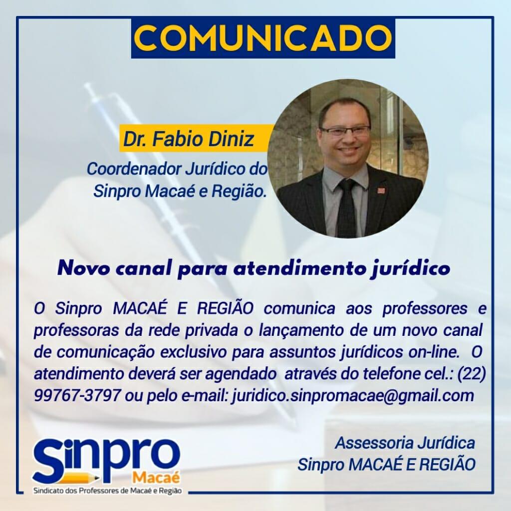 Novo canal de atendimento jurídico do Sinpro Macaé e Região