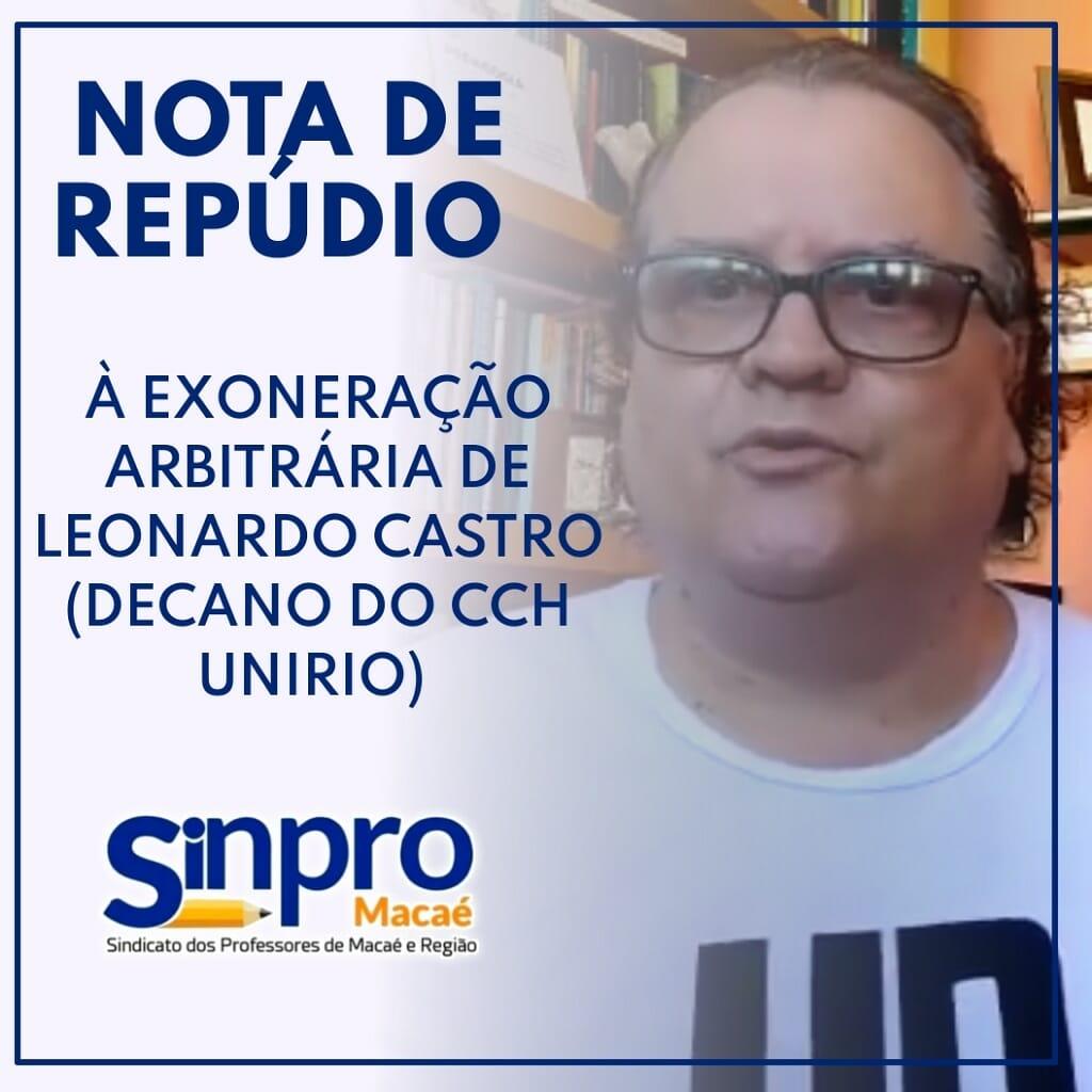 Leonardo Castro é o reitor eleito com 72% dos votos da comunidade acadêmica e não empossado pelo conselho universitário da UNIRIO.
