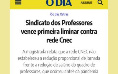 Sindicato dos Professores vence primeira liminar contra rede Cnec