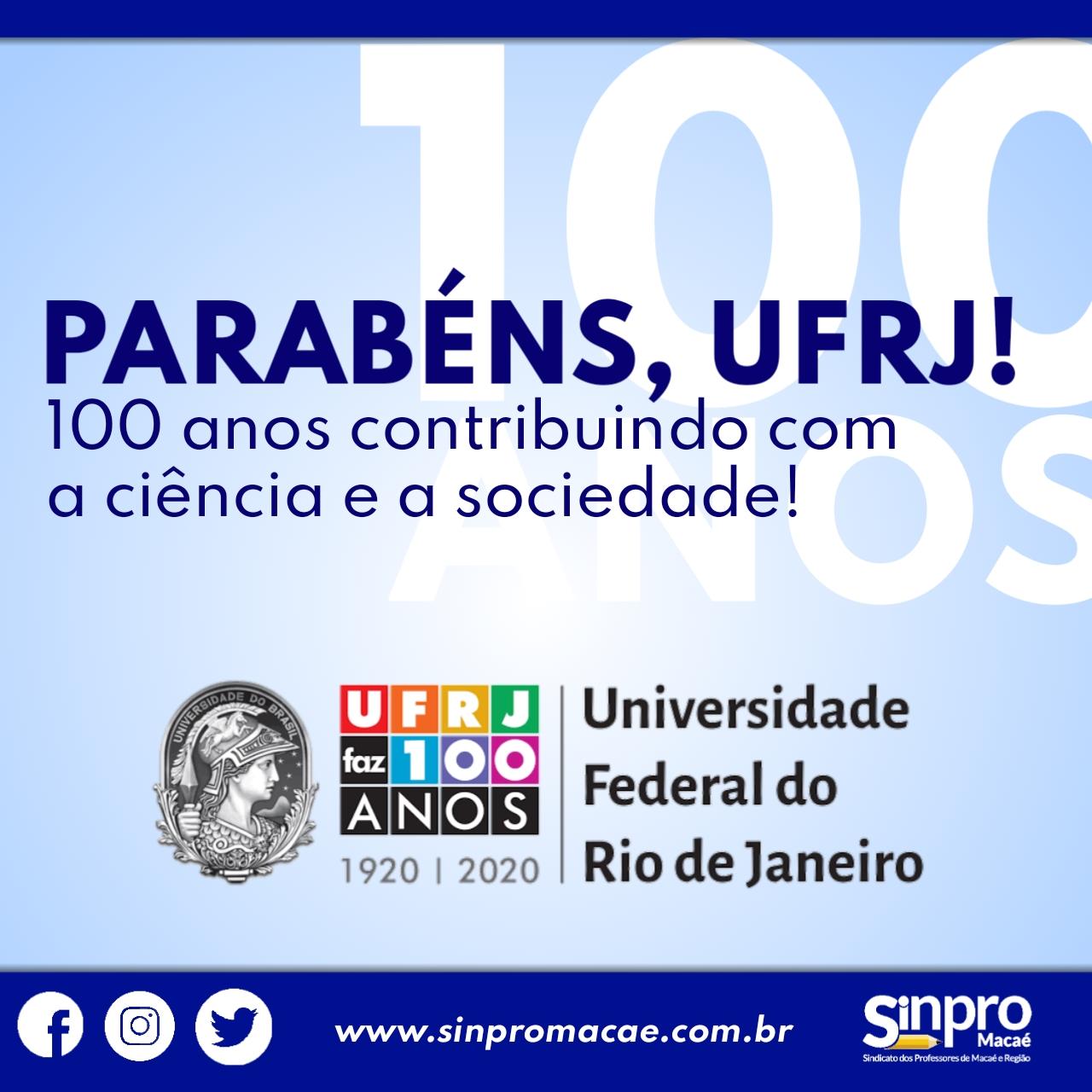 100 anos da UFRJ