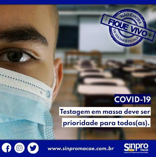 NOTA PÚBLICA : Sinpro Macaé e Região questiona Prefeitura de Macaé sobre baixa testagem de Covid-19 em professores
