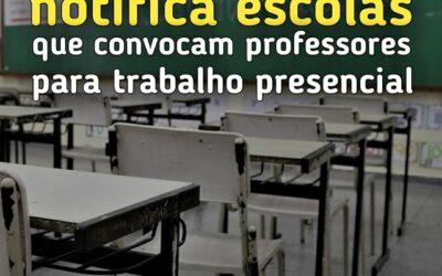 SINPRO MACAÉ E REGIÃO NOTIFICA ESCOLAS QUE CONVOCAM PROFESSORES PARA TRABALHO PRESENCIAL.