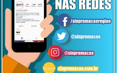 Sinpro Macaé e Região nas redes sociais