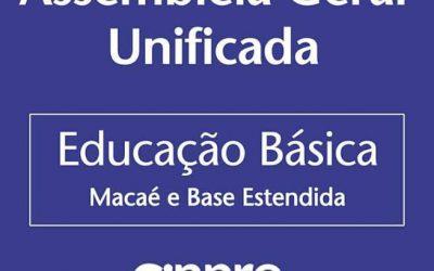 SINPRO MACAÉ E REGIÃO CONVOCA ASSEMBLEIA GERAL ORDINÁRIA VIRTUAL E UNIFICADA DE PROFESSORES DIA 24/04 ( SÁBADO) PARA DISCUIR CAMPANHA SALARIAL 2021