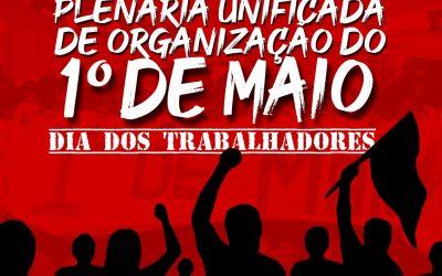 Sinpro Macaé e Região participa da construção do Ato do 1° de maio.