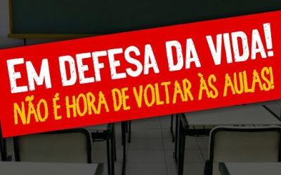 Nota aberta contra volta às aulas presenciais sem vacina em Rio das Ostras