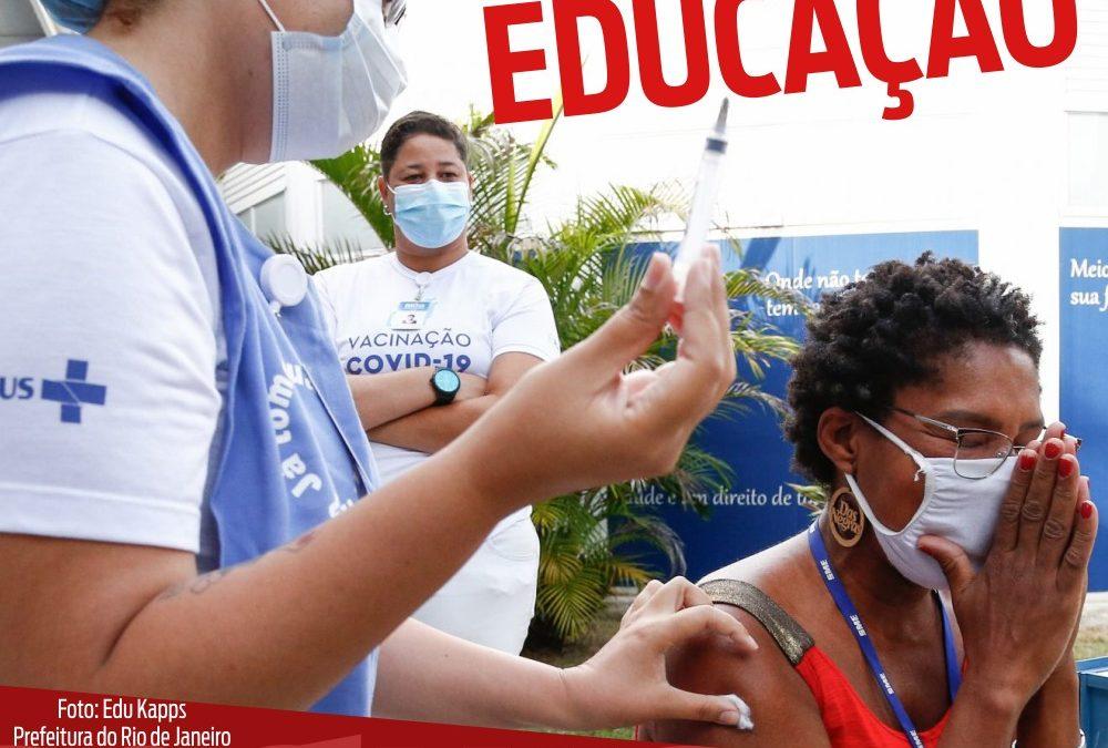 Vacina pra educadores é uma vitória sindical do Sinpro Macaé e Região