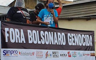 19J Sinpro Macaé e Região participa dos Atos Fora Bolsonaro em Rio das Ostras e Macaé