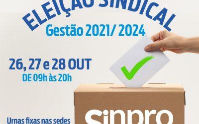 SINPRO MACAÉ E REGIÃO PUBLICA EDITAL DE CONVOCAÇÃO PARA ELEIÇÕES SINDICAIS – TRIÊNIO 2021/2024