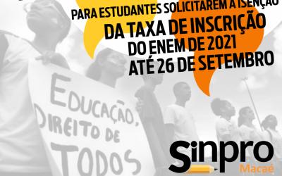 STF determina reabertura dos pedidos de isenção da taxa do Enem 2021